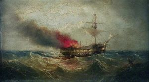 Henry Redmore - Fire at Sea