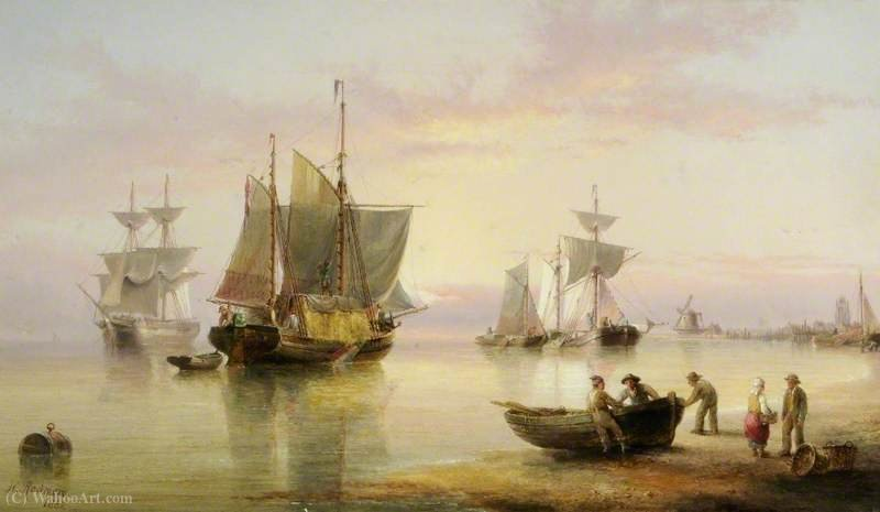 Maritime scene by Henry Redmore (1820-1887, United Kingdom) | Painting Copy | ArtsDot.com
