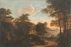 Jacob De Heusch - Southern Landscape with F..