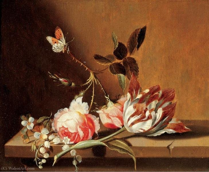 Flower still life by Jacob Marrel (1614-1681, Germany)