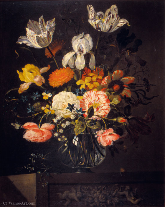 Still-Life with Flowers by Jacob Marrel (1614-1681, Germany)