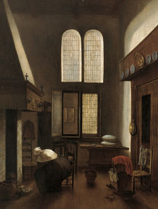 Jacobus Vrel - Interior with a Woman Seated by a Hearth