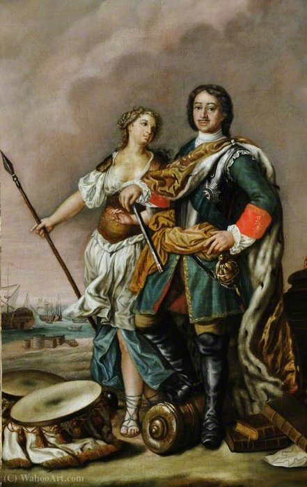 Peter I (1672–1725), 'Peter the Great', Tsar of Russia, with Minerva by Jacopo Amigoni (1682-1752, Italy)