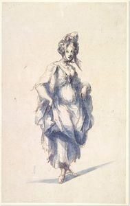 Jacques Bellange - Figure of a young woman w..
