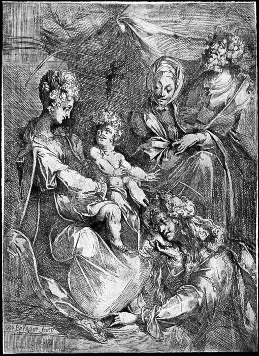 he Virgin and Child with the Magdalen and Saint Anne by Jacques Bellange (1575-1616, France) | Museum Art Reproductions Jacques Bellange | ArtsDot.com