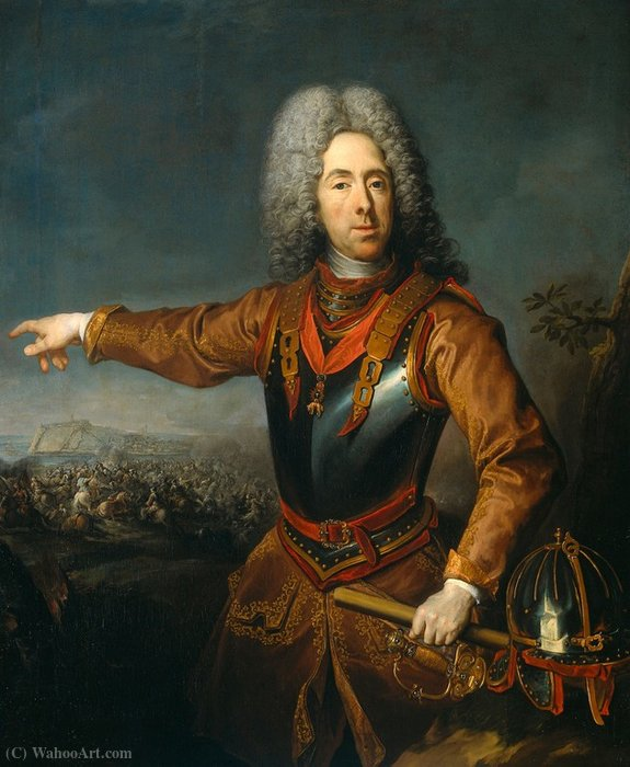 Eugene (1663-1736), Prince of Savoy. by Jacques Van Schuppen (1670-1751, France)