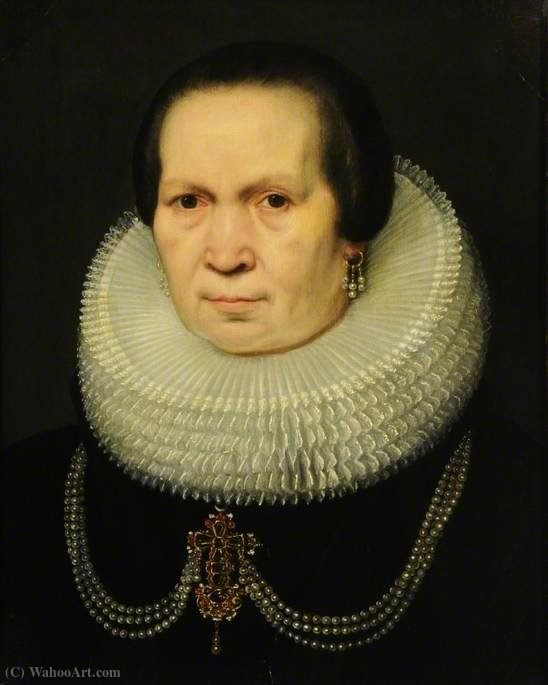 Portrait of a Lady by Jan Antonisz Van Ravesteyn (1572-1657, Seventeen Provinces)