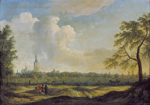 Jan Ten Compe - View of The Hague as seen from..