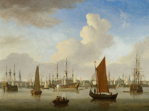 Jan Ten Compe - View of the IJ and Amsterdam