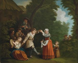 Jean Baptiste Le Prince - A rural dance (with bagpi..