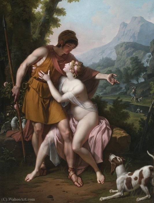 Venus and adonis by Jean Baptiste Baron Regnault (1754-1829) | Painting Copy | ArtsDot.com