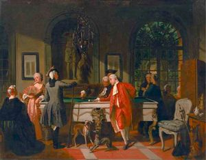 Jean Carolus - A Game of Billiards under..