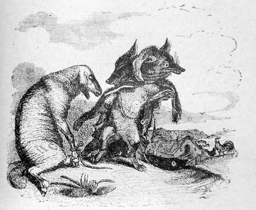 Illustrations of La Fontaine's Fables by Jean Jacques Grandville (1803-1847, France)