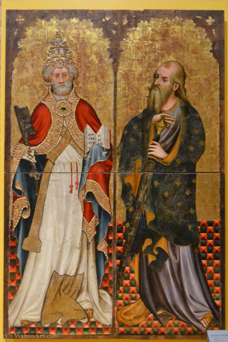 St. Peter and Paul by Joan Mates (1370-1431, Spain)