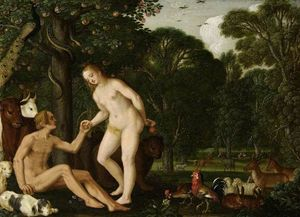 Johann König - Adam and Eve in Paradise
