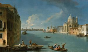 Johann Richter - The construction for the bridge for the feast of the madonna della salute