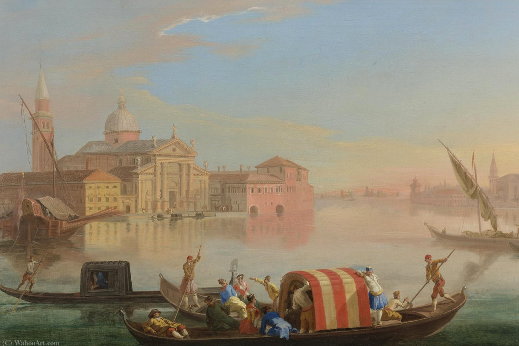 Order Oil Painting : View of san giorgio maggiore, venice by Johann Richter (1763-1825, Germany) | ArtsDot.com