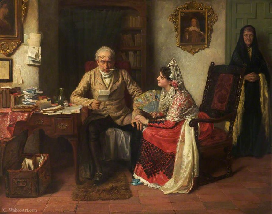 An irritable appeal by John Bagnold Burgess (1829-1897, United Kingdom)