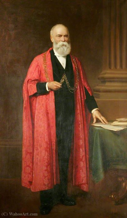 Order Paintings Reproductions | Charles Cory Aldred (1811–1884), Mayor of Great Yarmouth by John Bagnold Burgess (1829-1897, United Kingdom) | ArtsDot.com