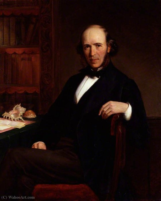 Order Art Reproductions | Herbert spencer by John Bagnold Burgess (1829-1897, United Kingdom) | ArtsDot.com
