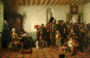 John Bagnold Burgess - Licensing the Beggars in Spain