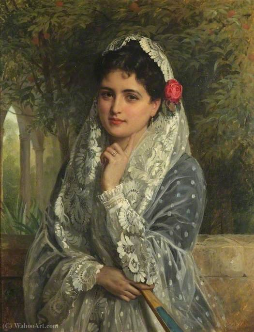 The Pride of Seville by John Bagnold Burgess (1829-1897, United Kingdom)