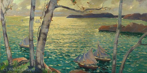From the Rockport Shore by Jonas Lie (1880-1940, Norway)