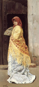 Jose Gallegos Y Arnosa - The yellow shawl