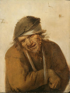 Joos Van Craesbeeck - A peasant grimacing with his arm in a sling