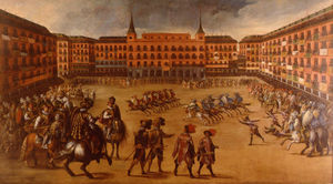 Juan De La Corte - Festivities in the Plaza ..