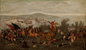 Juan De La Corte - The Israelites crossing t..