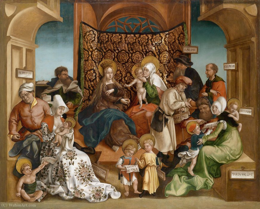 Holy kinship by Jörg The Elder Breu (1475-1537, Germany)