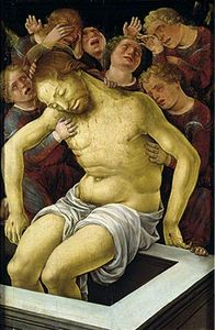 Liberale Da Verona - The Dead Christ Supported by Mourning Angels