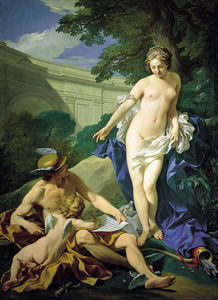 Louis Michel Van Loo - Venus, Mercury and Love