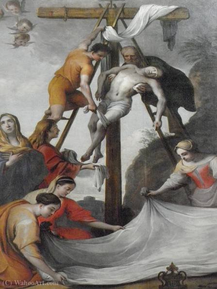 Descent from the Cross by Lubin Baugin (1612-1663, France)