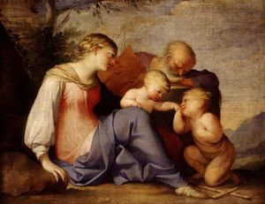 Lubin Baugin - The Holy Family with the Infan..