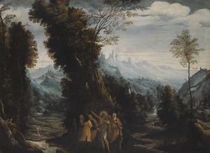 Mastelletta - Landscape with John the Baptist Preaching in the Wilderness