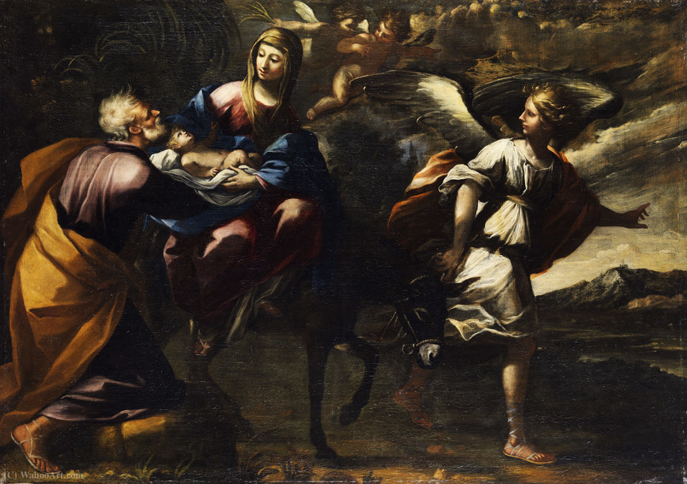 The Flight into Egypt by Mastelletta (1575-1655, Italy) | ArtsDot.com