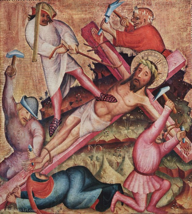 Passion, left wing by Master Bertram (1345-1415, Germany) | Oil Painting | ArtsDot.com