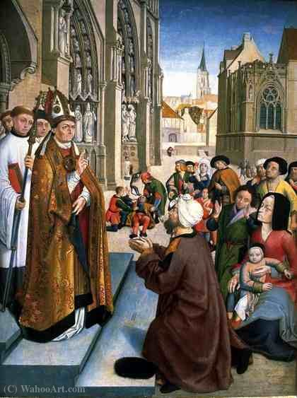 Episodes from the Life of a Bishop Saint by Master Of Saint Gilles