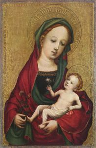 Master Of Saint Veronica - Madonna with the pea blos..