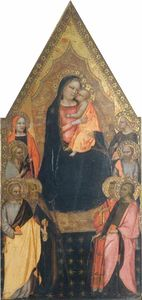 Master Of San Lucchese - Madonna and Child Enthroned wi..
