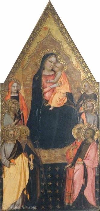 Madonna and Child Enthroned with Saints by Master Of San Lucchese