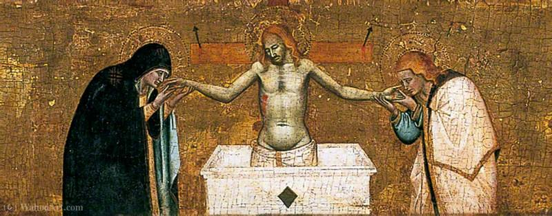 The Dead Christ with the Virgin and St John by Master Of San Lucchese | Art Reproductions Master Of San Lucchese | ArtsDot.com