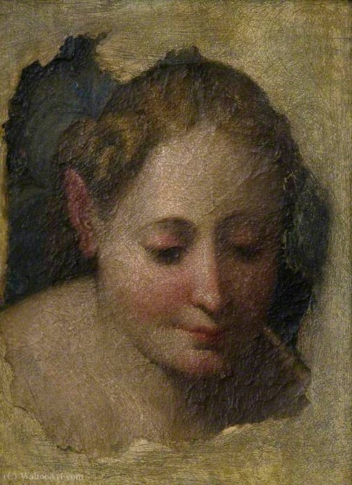 Head of a Woman by Niccolò Dell' Abbate (1512-1571, Italy) | Oil Painting | ArtsDot.com