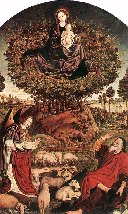 Moses and The Burning Bush, Nicholas Froment by Nicolas Froment (1430-1484, France)