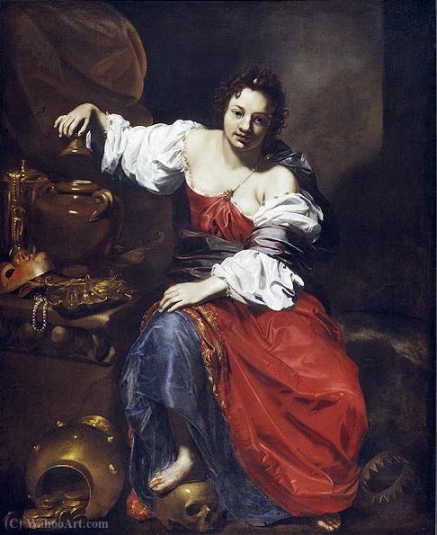 Allegory of Vanity - Pandora by Nicolas Régnier (1591-1667, France)