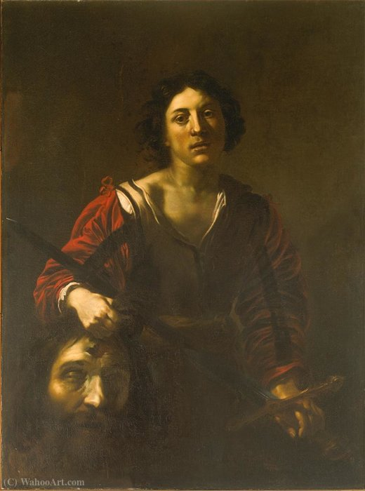 David with the Head of Goliath by Nicolas Régnier (1591-1667, France)