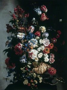 Paolo Porpora - Still Life of Flowers in an Ur..