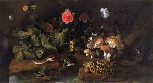 Paolo Porpora - Still Life with a Snake, Frogs..